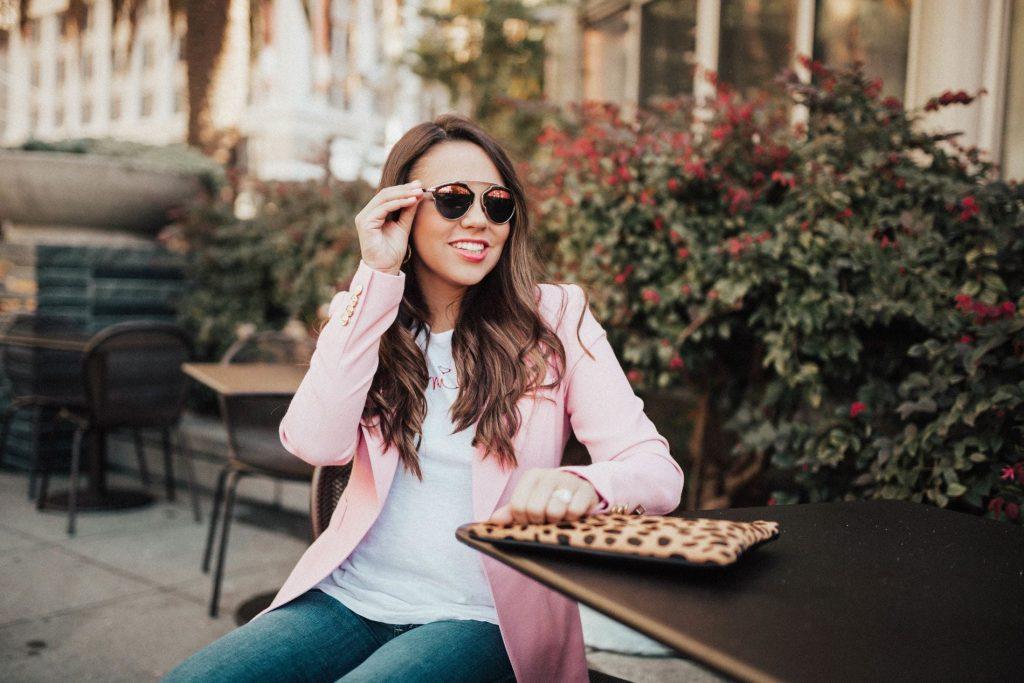 brunette balayage, beach waver, Dior So Real sunglasses