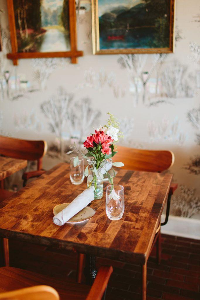 Rustic restaurant decor, Charlottesville restaurants