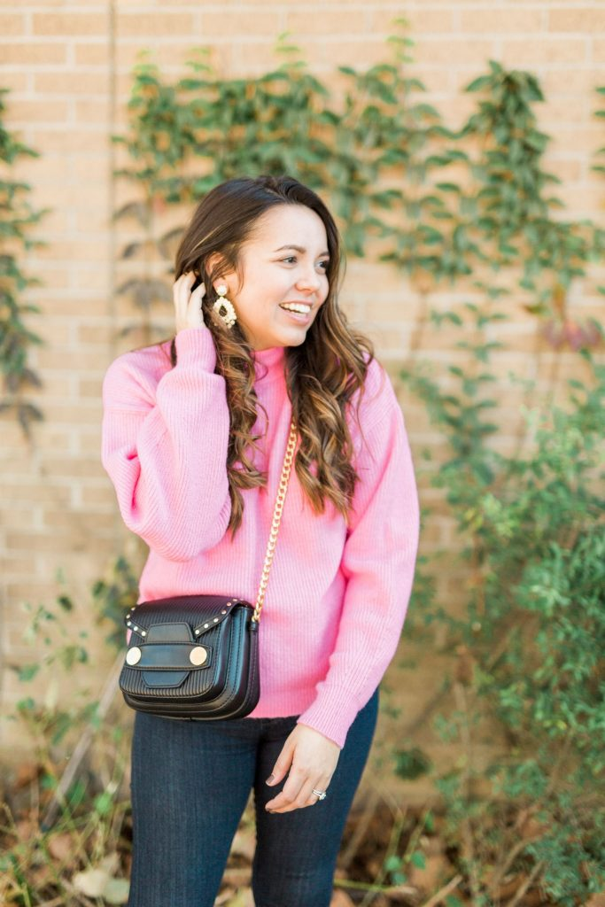 January color pop, colorful winter sweater, budget-friendly sweaters