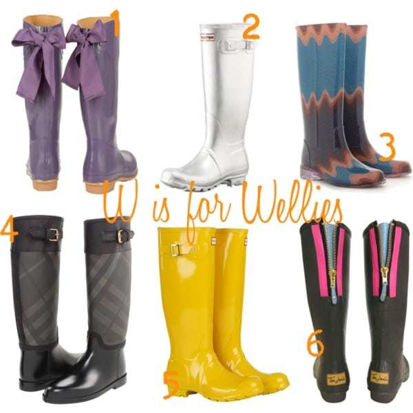 W is for Wellies