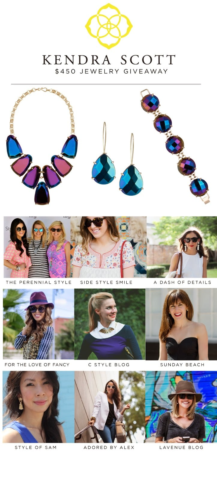 Giveaway // Kendra Scott Black Iridescent Collection
