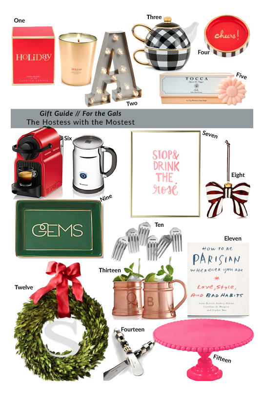 Gift Guide Gals - Hostess with the Mostest