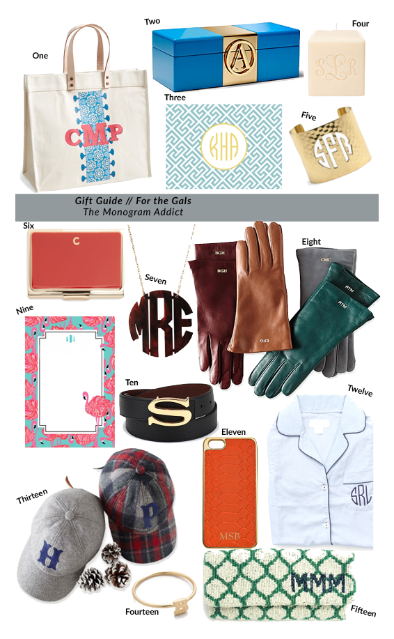 Guide to Gift Giving: For the Monogram Addict