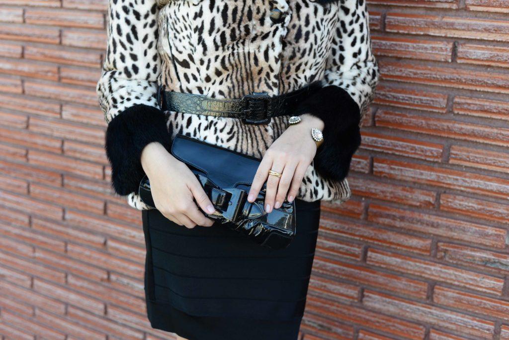 Belted leopard jacket
