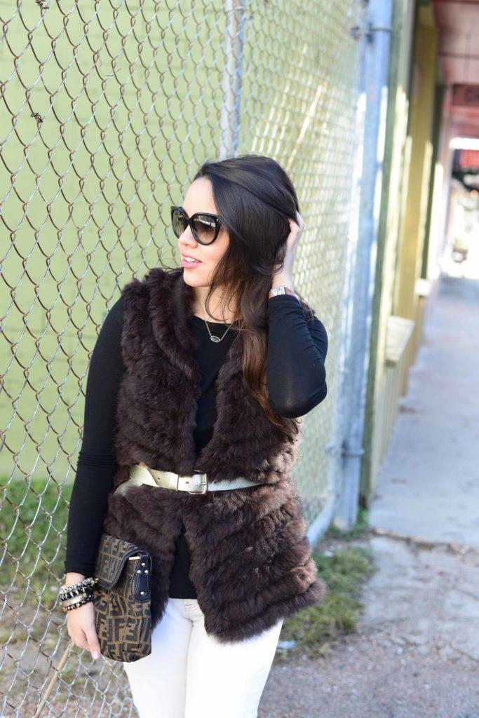 Belted Fur Vest