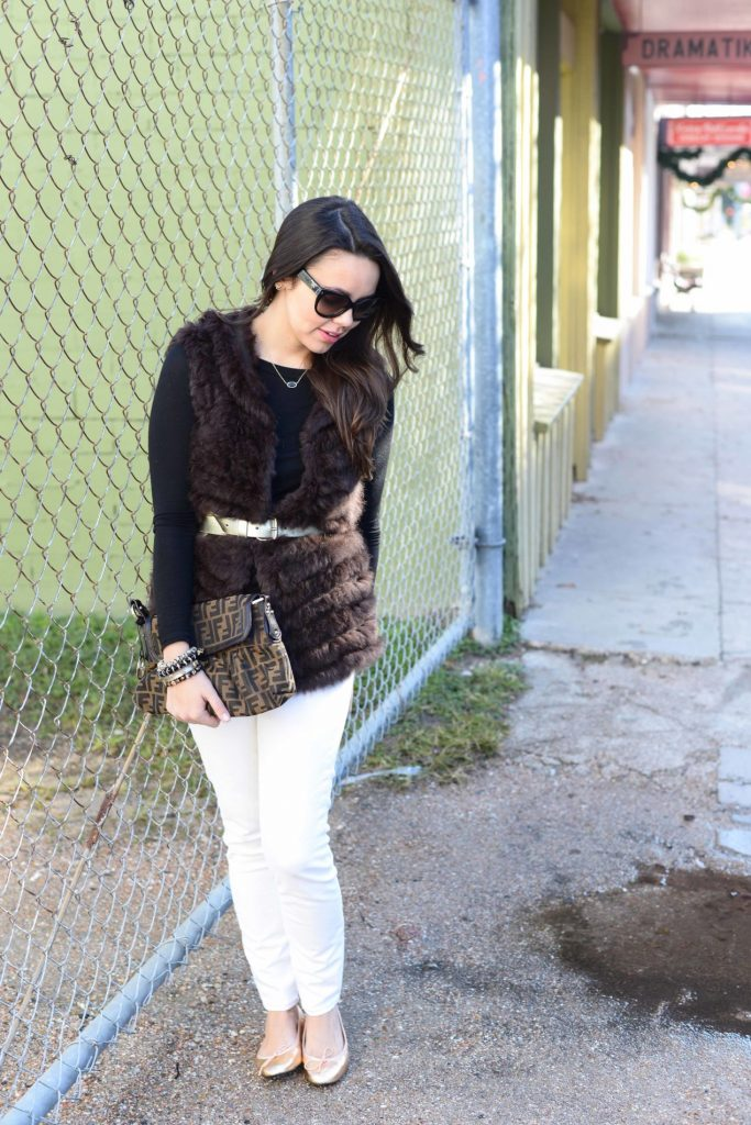Fur and White Denim