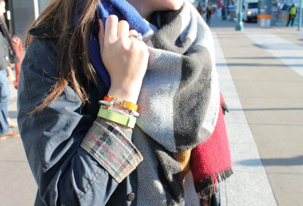 oversized colorblock scarf