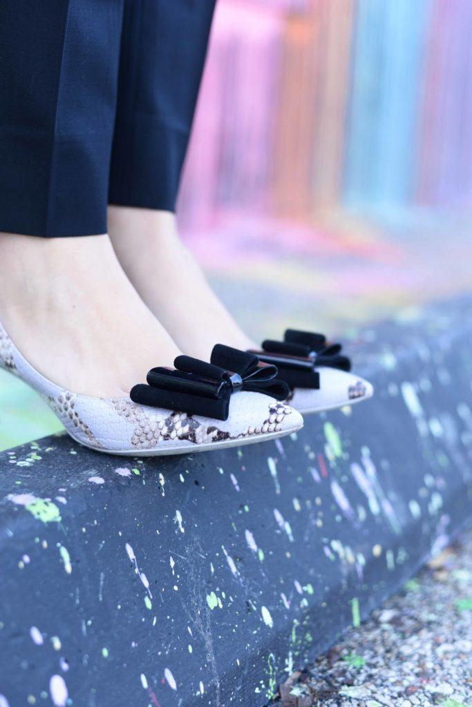Armani bow heels