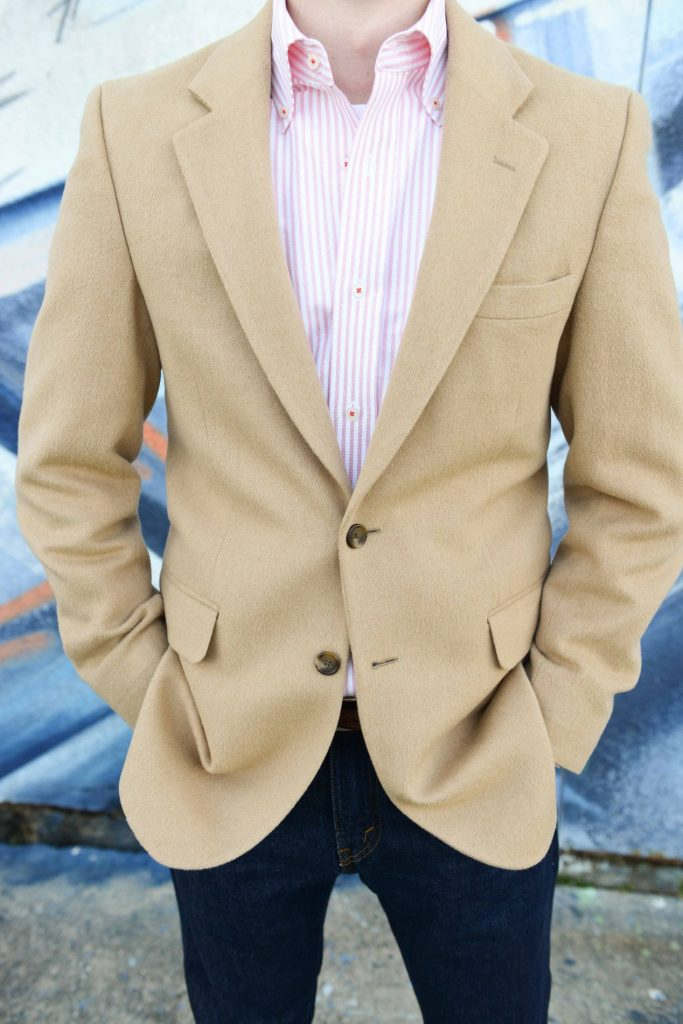 Camel Hair men's blazer