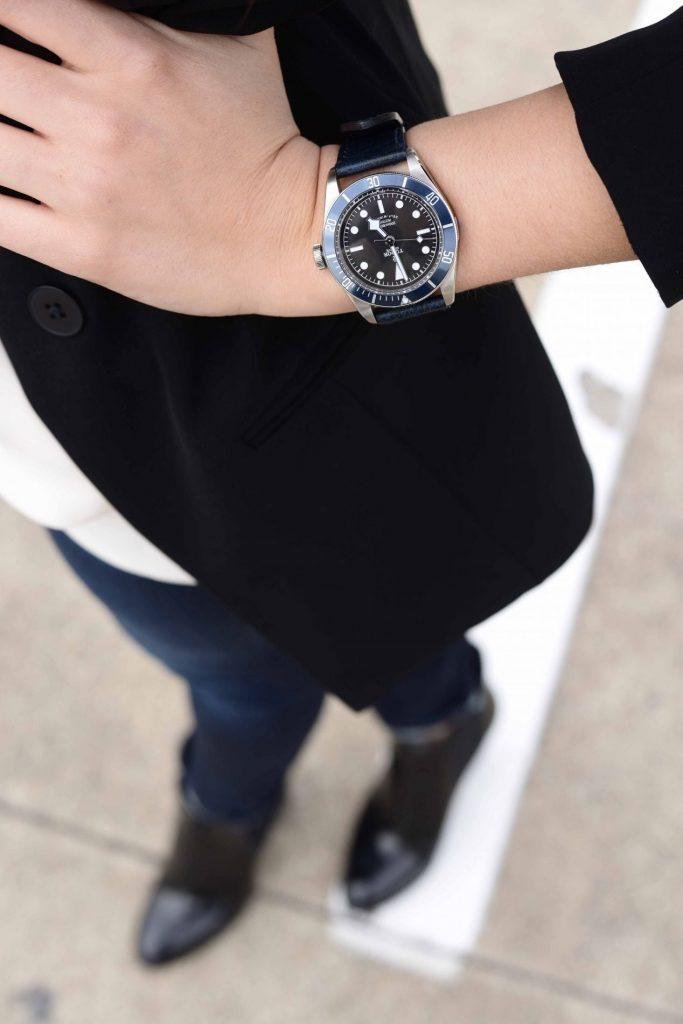 Tudor Heritage Blue Bay Watch
