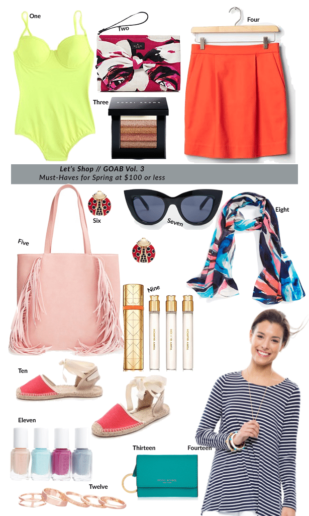 Girl On A Budget - 2015 Spring Must-Haves under $100