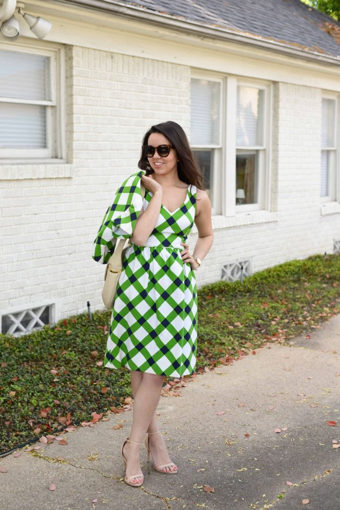 Gingham fit and flare Easter dress