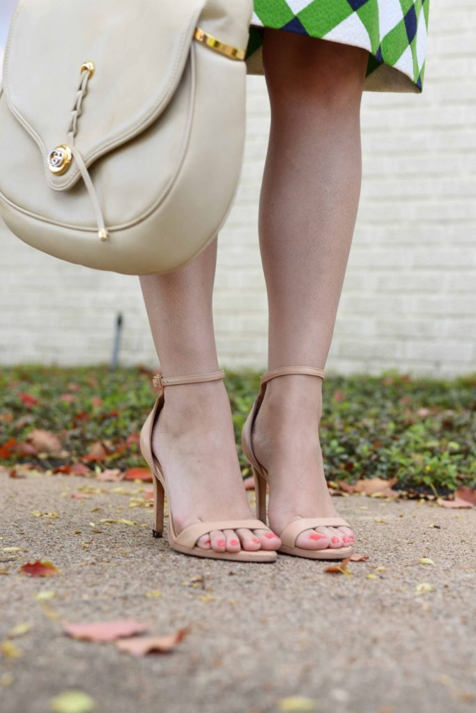 Zara heels and Gucci bag