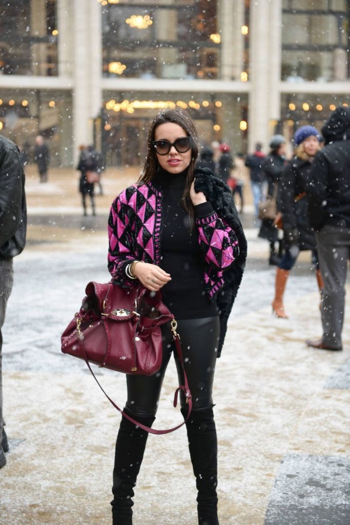 Snow at NYFW - Blogger Style