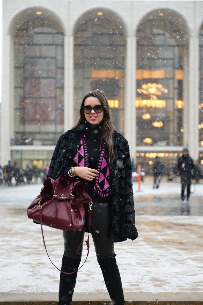 Snow at NYFW - Lincoln Center