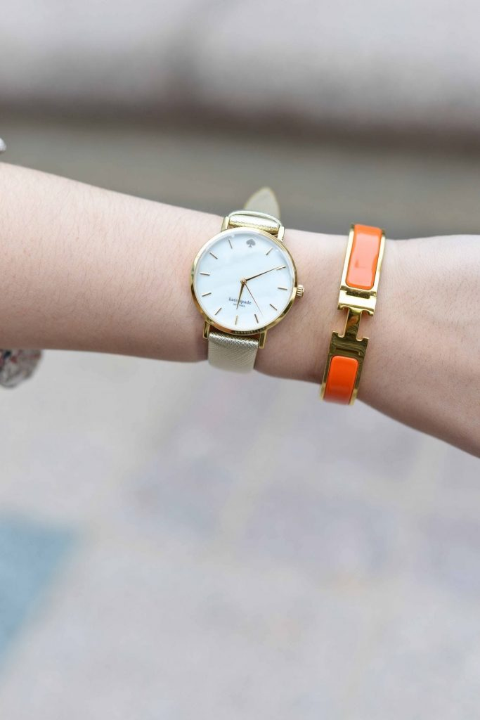 Kate Spade Saffiano Watch + Hermes clic clac