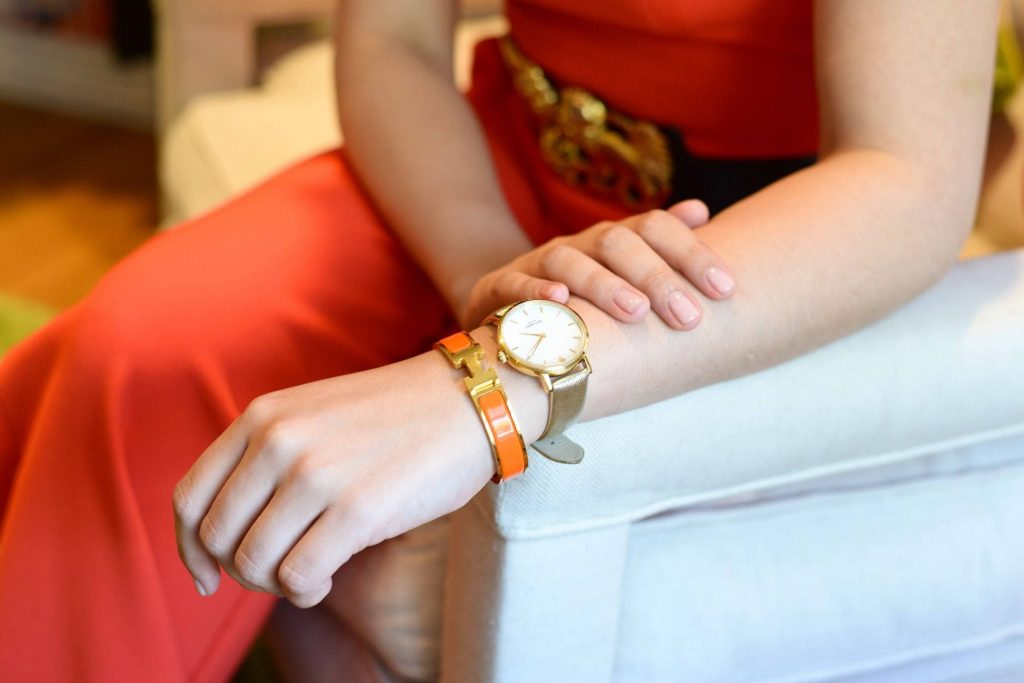 Hermes clic clac + Kate Spade watch
