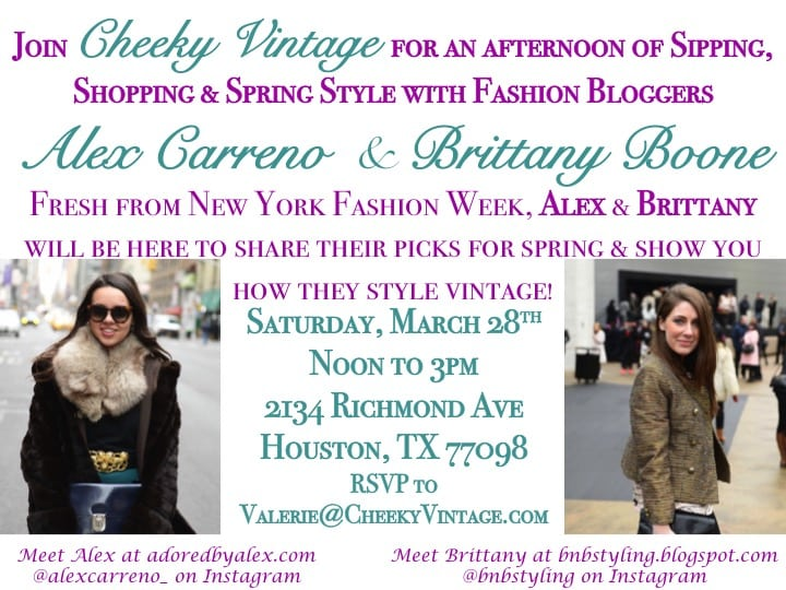 Adored by Alex Cheeky Vintage Styling Event Houston