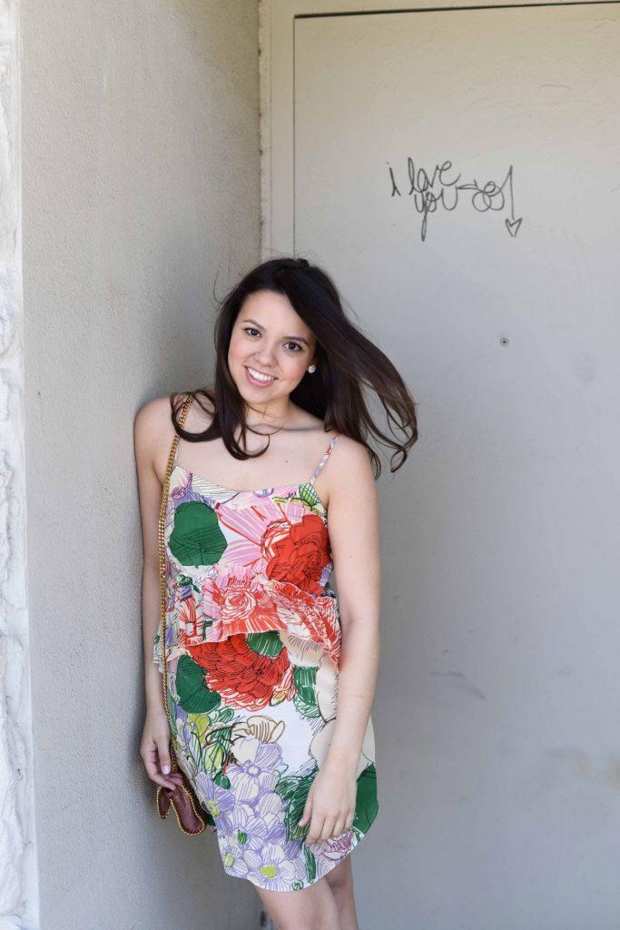 Spring floral slip dress