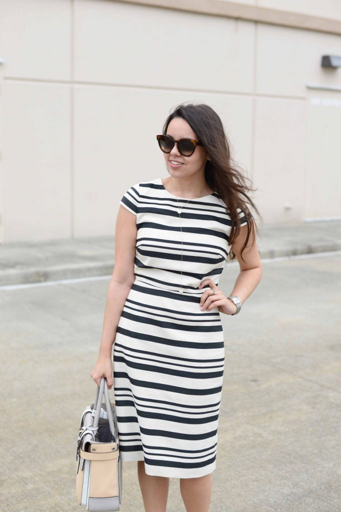 J.Crew stripe spring dress
