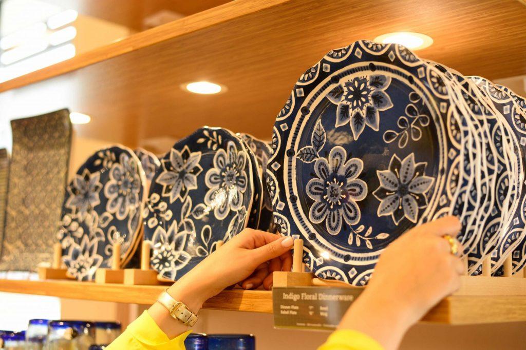 Blue china plates - Pier 1 Imports