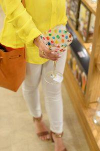 Polka Dot Martini Glass - Pier 1 Imports