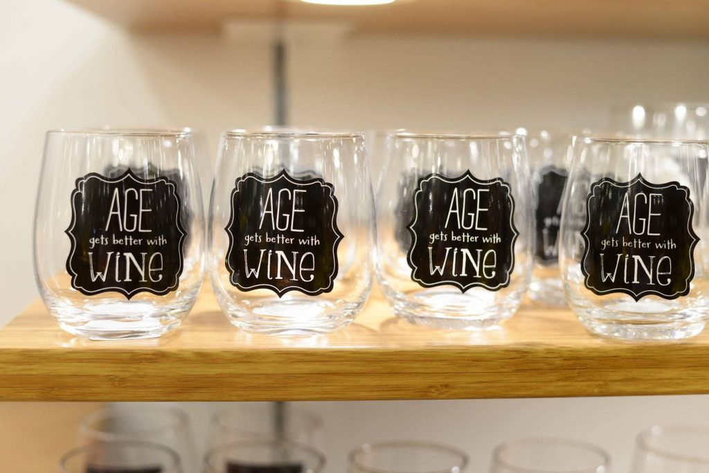 Pier 1 Imports stemless wine glasses