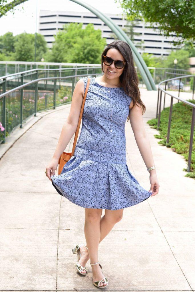 Drop Waist Linen dress