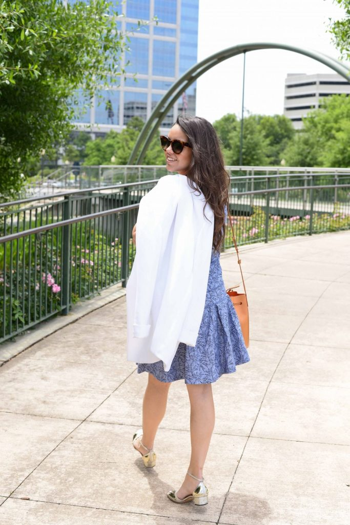 Blue + White summer outfit