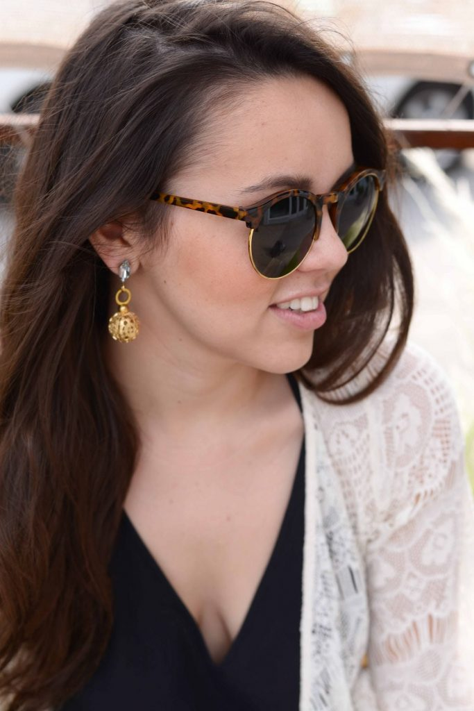 Emerson Rose statement earrings