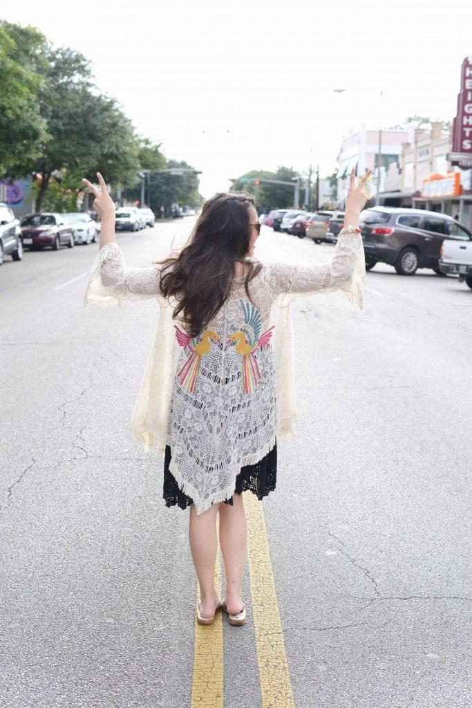 Peace in a partridge kimono