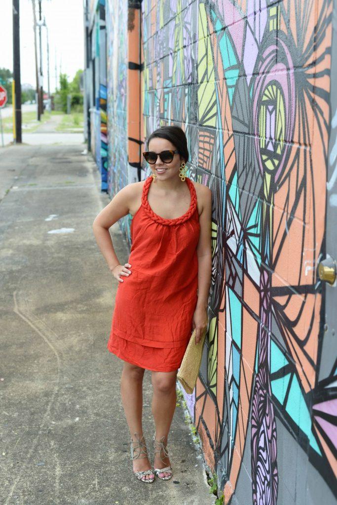 Summer red dress - Alex Carreno Houston stylist