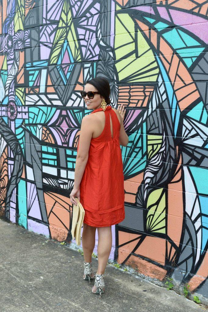 Racerback red Calypso dress