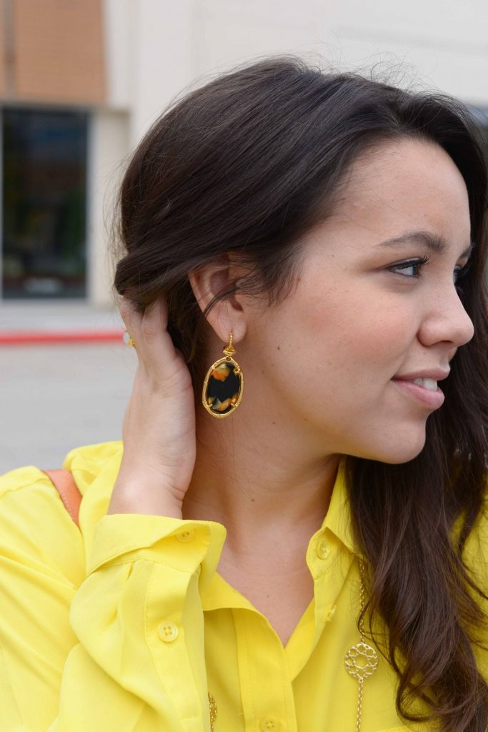 Elaine Turner tortoise earrings