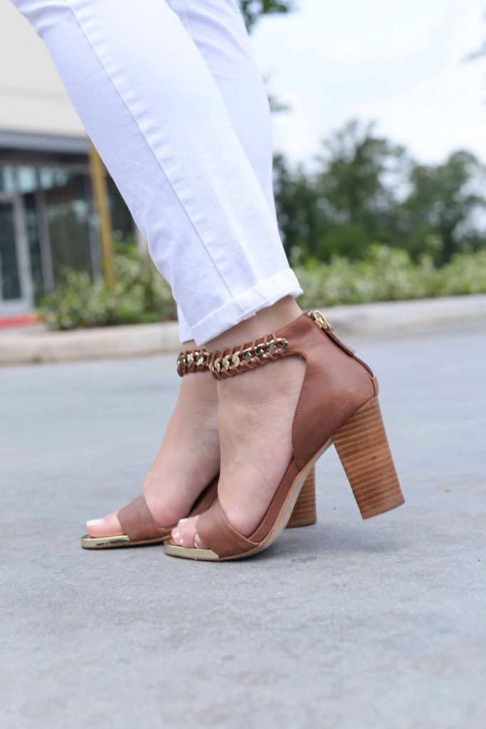Elaine Turner stacked heel