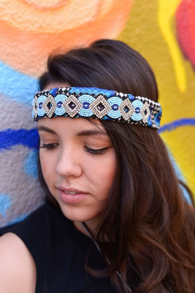 Beaded headband via Emerson Rose Houston