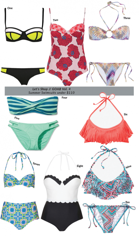 Girl on a budget - summer swimsuits - adored by alex