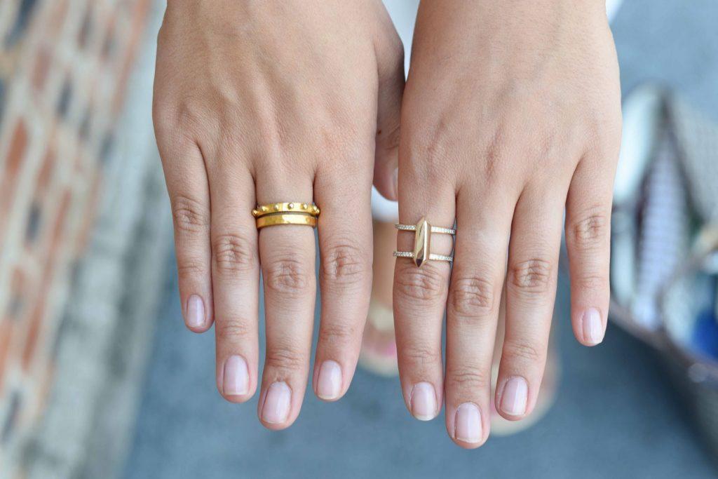 Julie Vos + Kate Spade rings