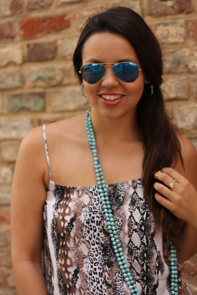 Turquoise aviators and necklaces