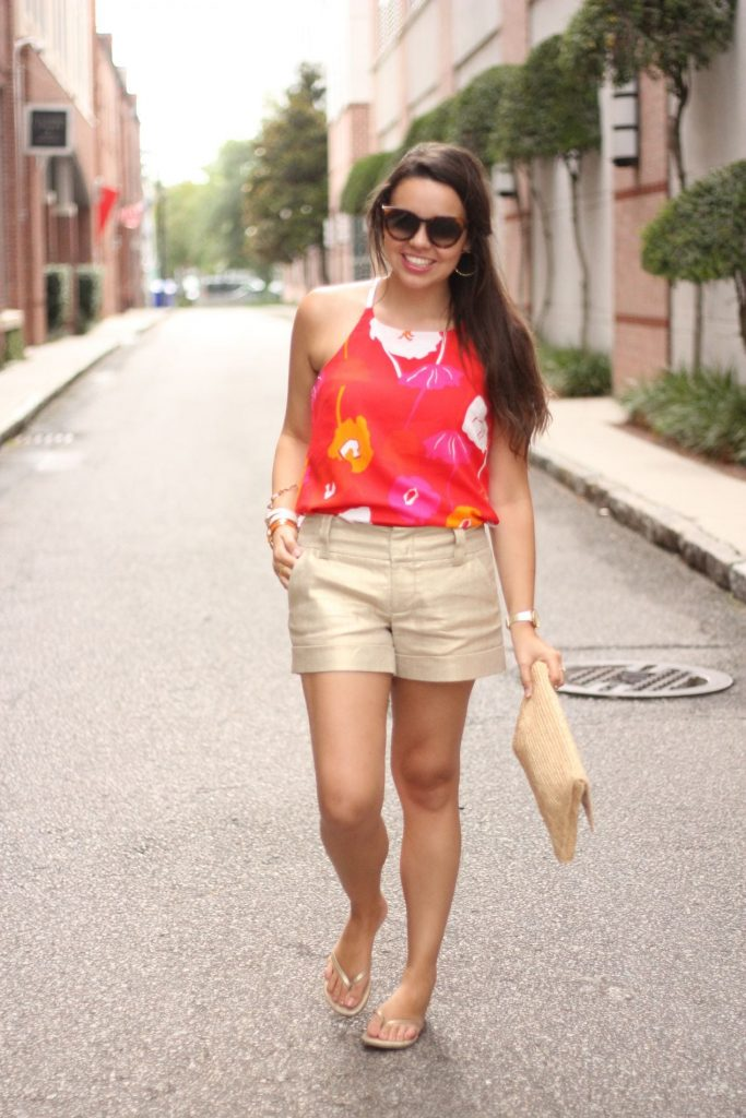 Mod Floral Tank and Metallic Shorts - Adored by Alex travel