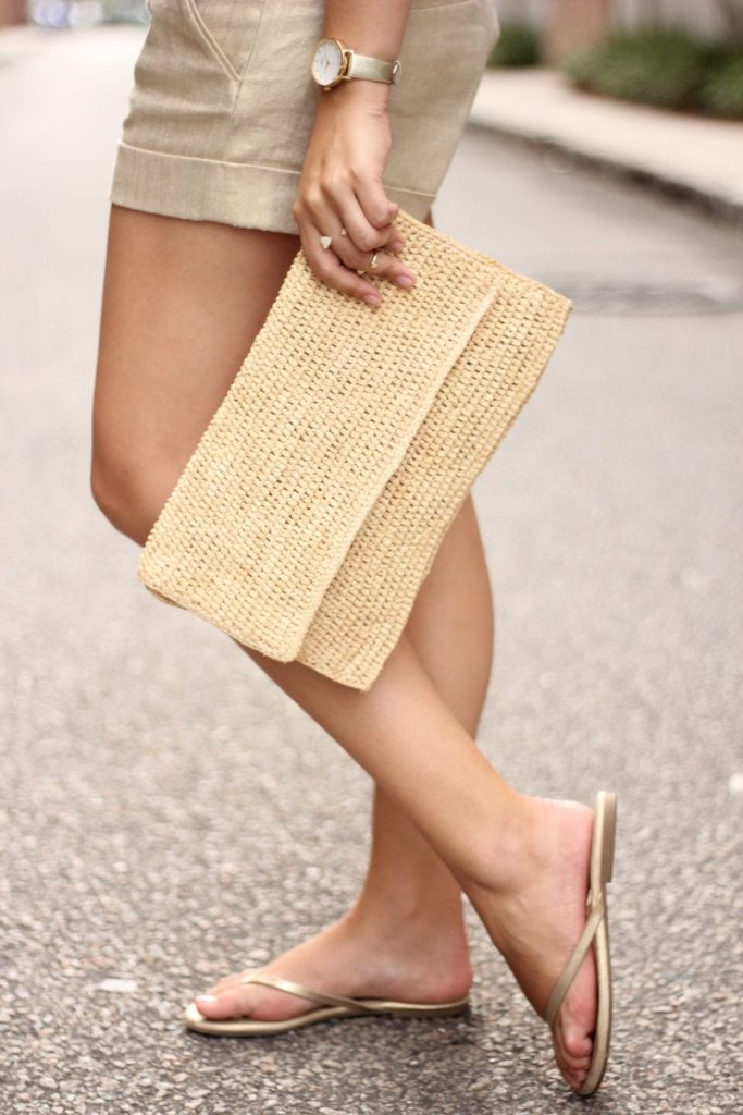 Heidi Wynne Edgartown raffia clutch