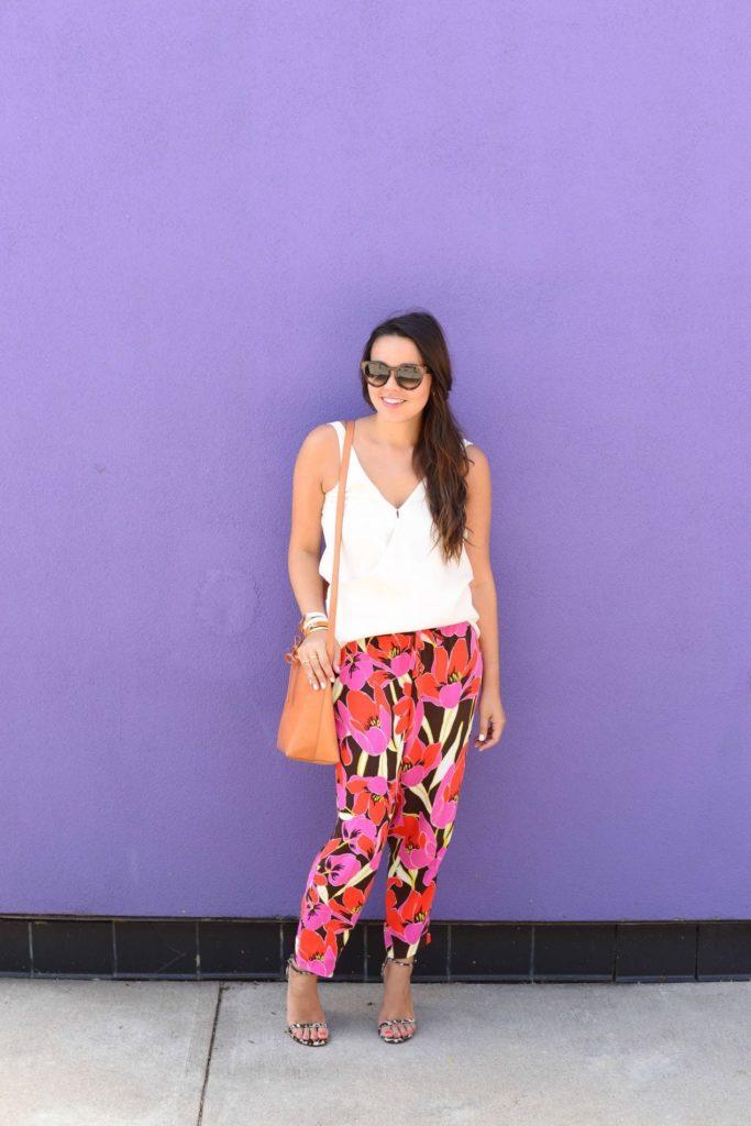 Bold Floral Pants