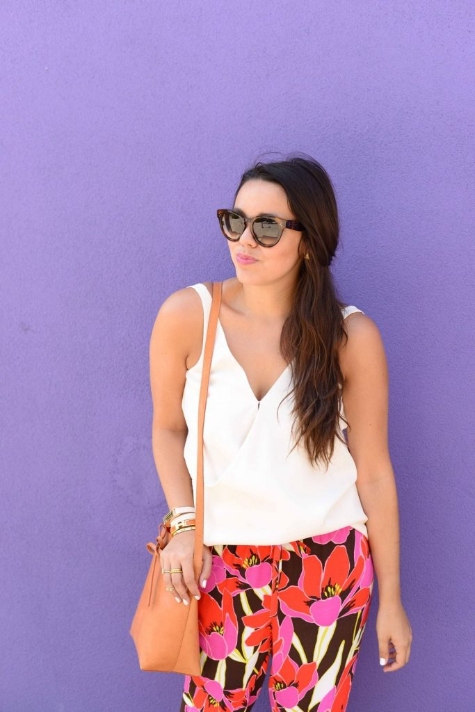 Summer floral outfit