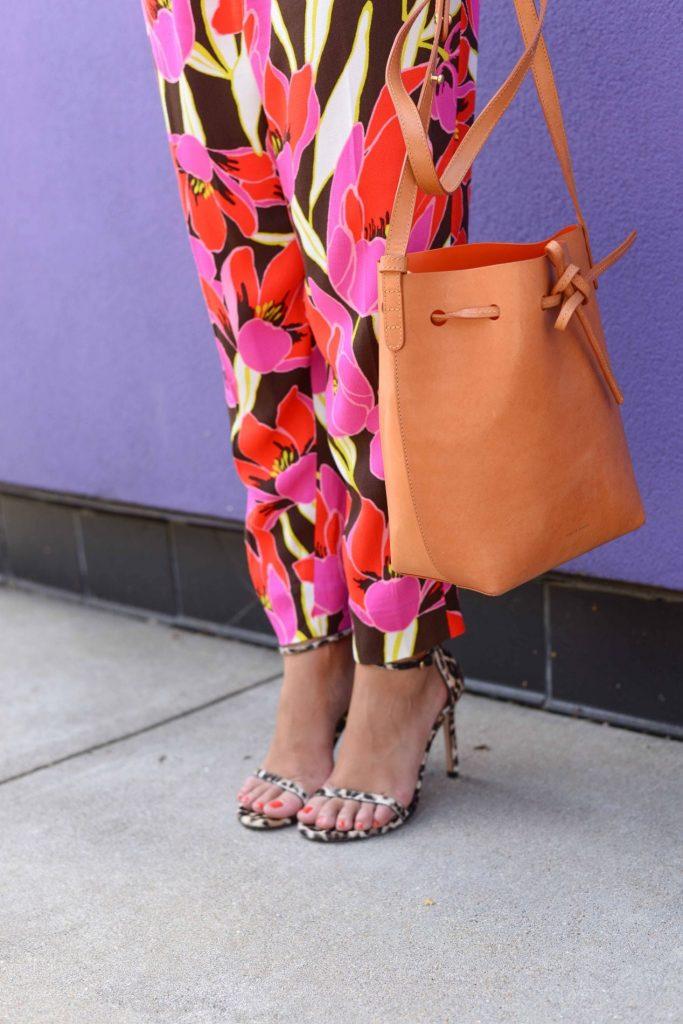 Floral Pants & Leopard heels