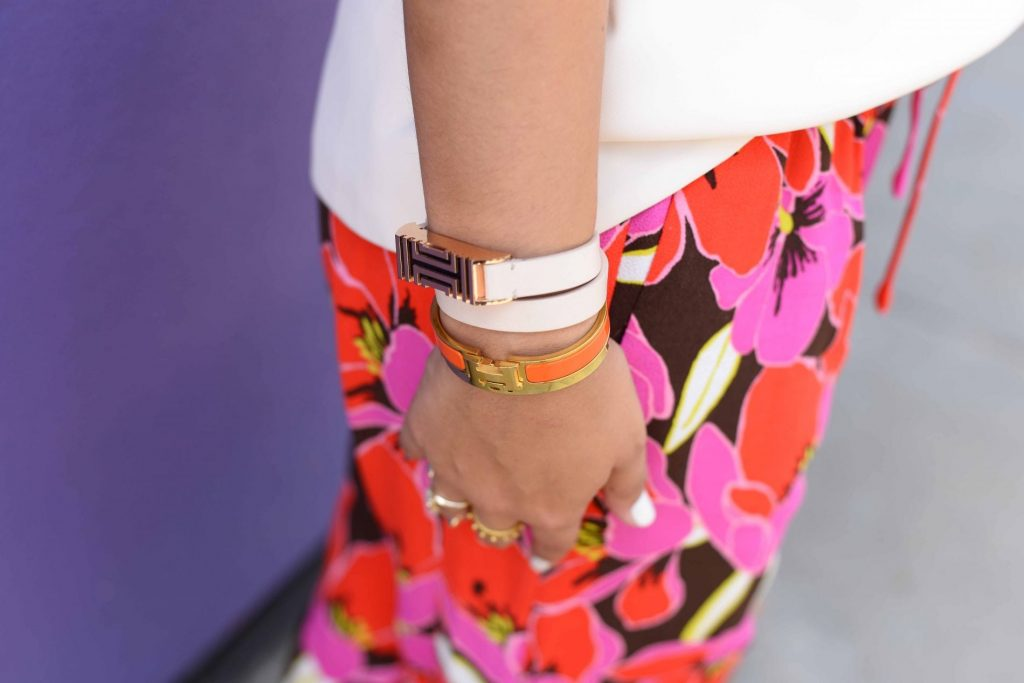 Arm party - Tory Burch, Hermes, Bauble Bar