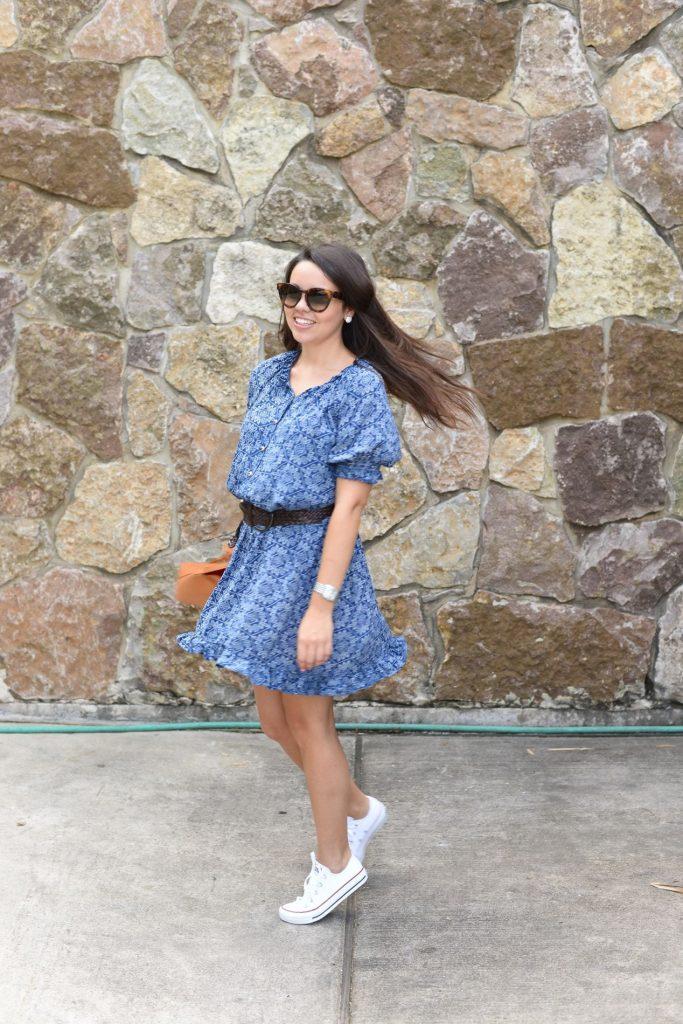 Twirly paisley day dress