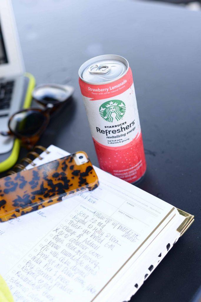 Starbucks Refreshers & to-do lists