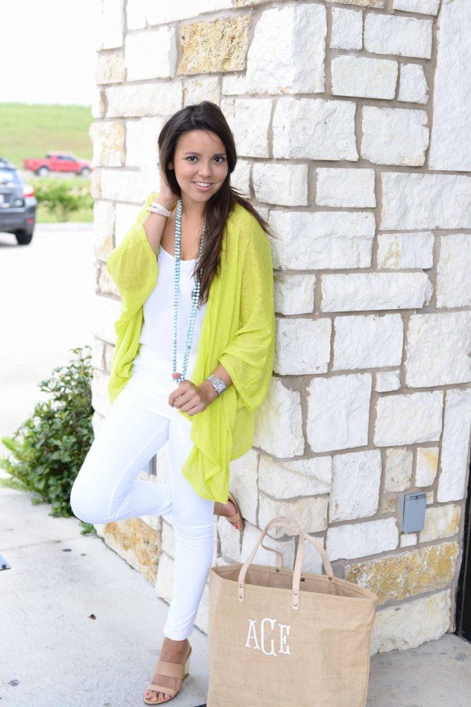 Shop Dress Up neon green shrug