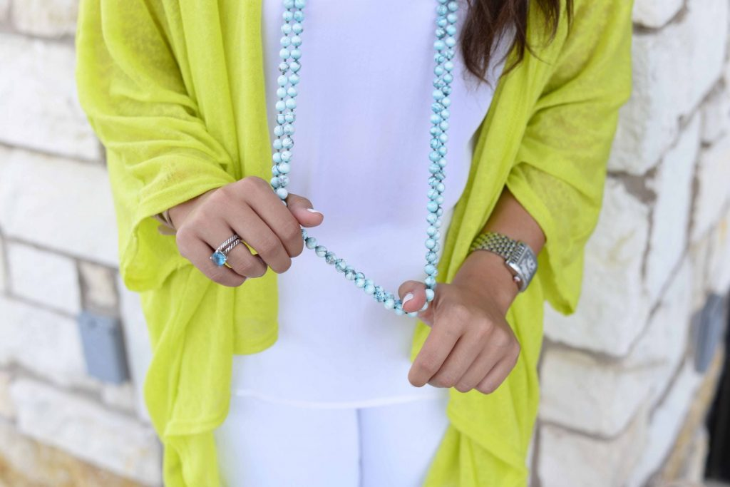 Beaded turquoise necklace strands