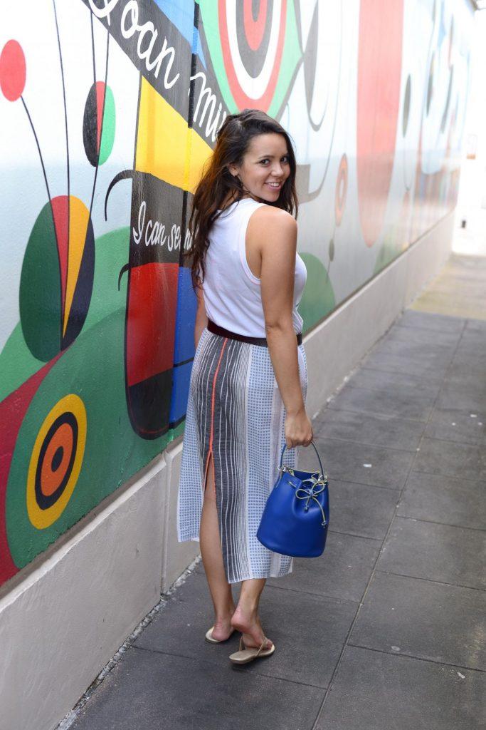 Striped back skirt with slit - LemLem